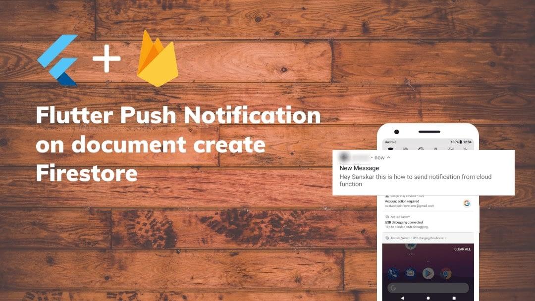 Flutter Push Notification on document create Firestore