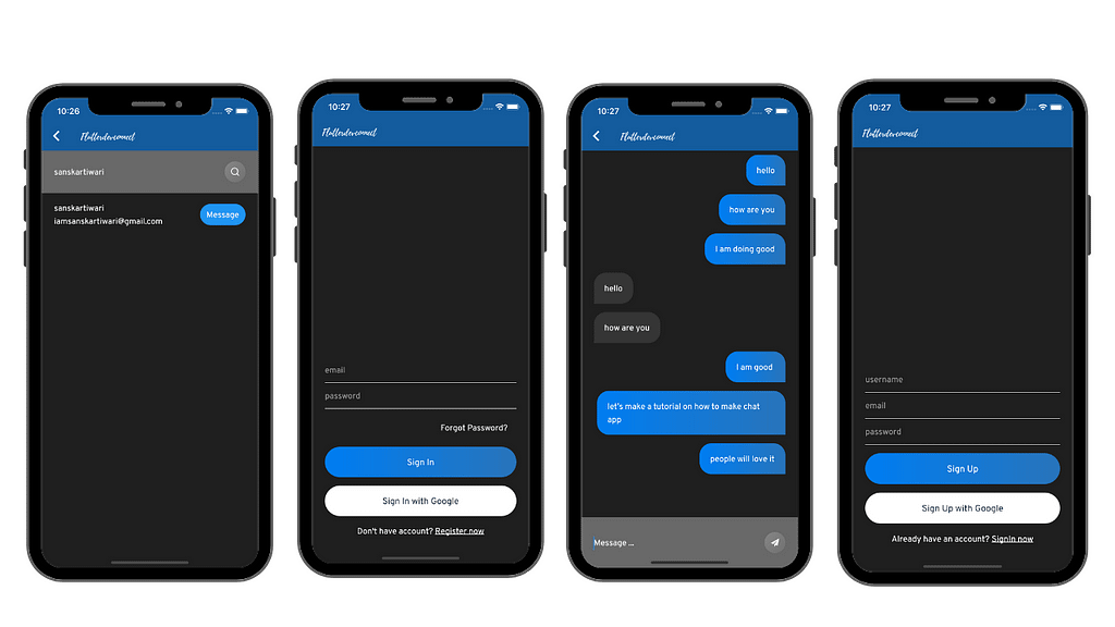 Chat app made with Flutter Firebase Open Source by theindianappguy real time chat